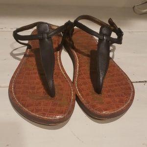 Sam Edelman gigi black leather thong sandal